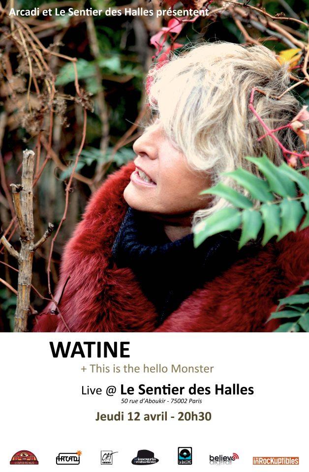 Watine en concert à Paris le 12 Avril