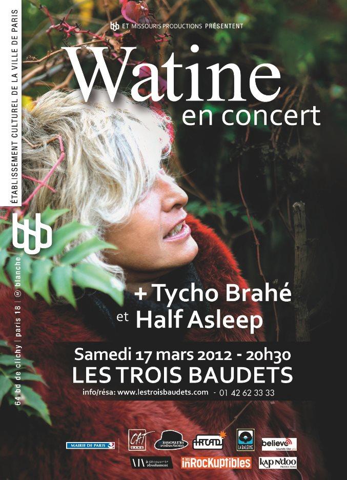 Watine en concert à Paris le 17 Mars